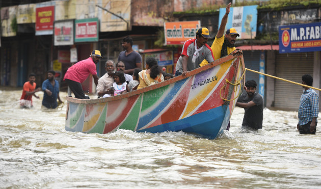 India: Rescue Operations Kerala Floods Disaster