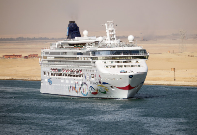 Cruise ship in the Suez Canal
