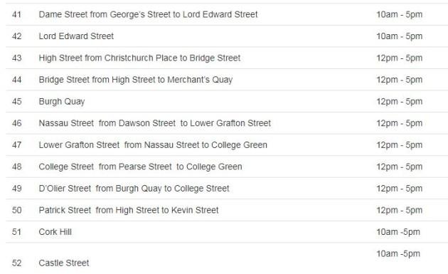 temporary road closures saturday 3