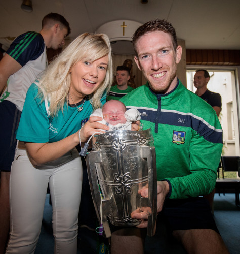 Niamh Collins with Seamus Hickey and Liam Tomney, three and a half weeks, Dublin