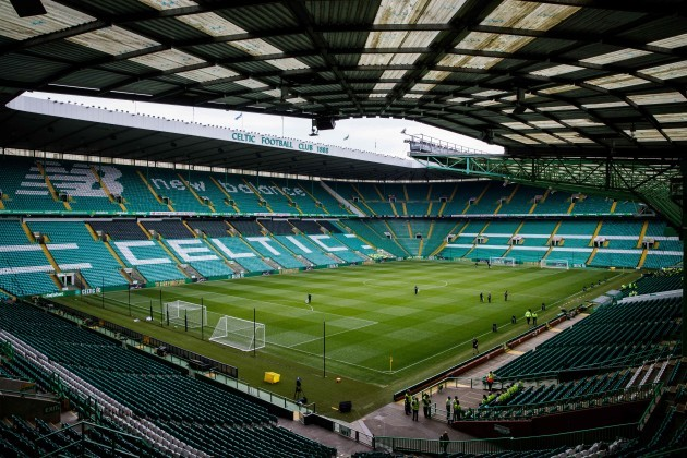 A view of Celtic Park ahead of today's game