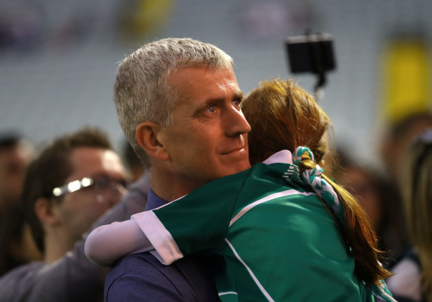 John Kiely with his daughter Aoife