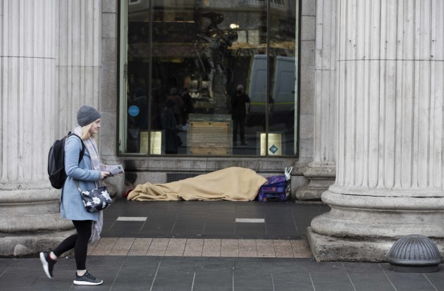 File Photo SVP is calling on the Government to declare a national emergency over the homeless . End.