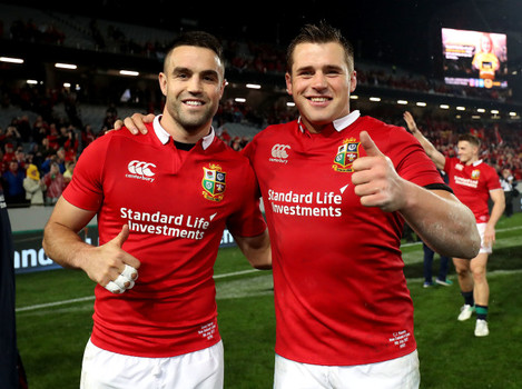 Conor Murray and CJ Stander after the game