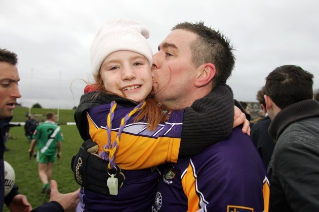 Lauren Magee with father Johnny Magee after the game