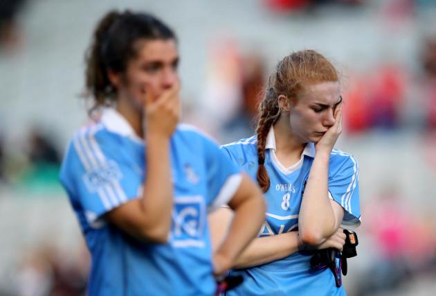 Lauren Magee dejected
