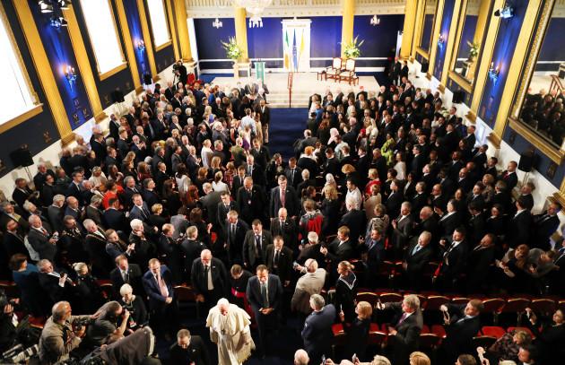 NO FEE DFA POPE FRANCIS VISIT DUBLIN CASTLE JB10