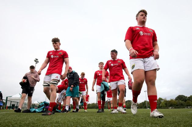 Munster leave the pitch after the game