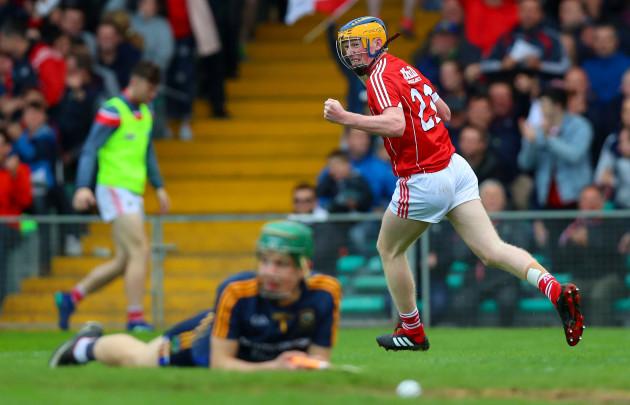 Conor Cahalane celebrates scoring a goal