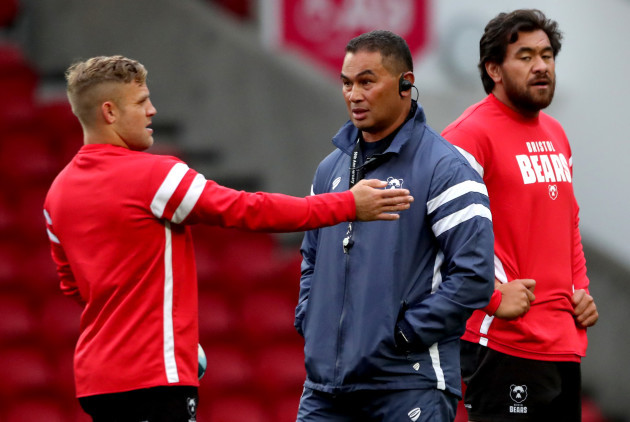 Ian Madigan and Steve Luatua with head coach Pat lam
