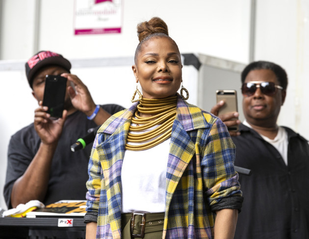 Janet Jackson appearance during Harlem Week ''Summer in the City'' Event-NYC