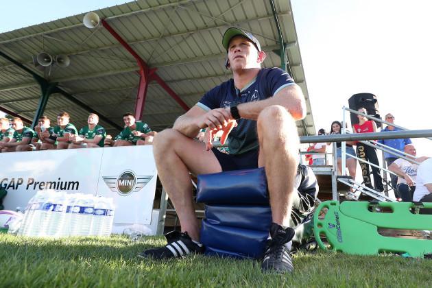 Connacht's assistant coach Johnny O'Connor looks on