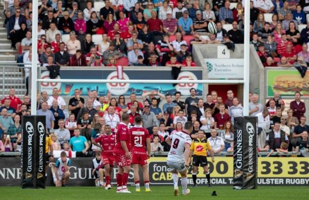 John Cooney kicks the winning score