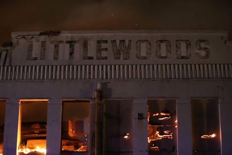 Littlewoods building fire
