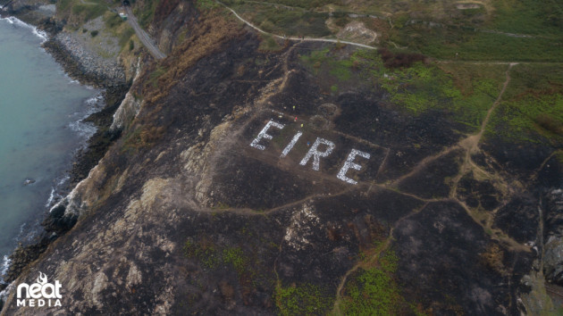 © NEAT Media - www.neat.ie - EIRE SIGN - Bray Head - 1st Sept 2018
