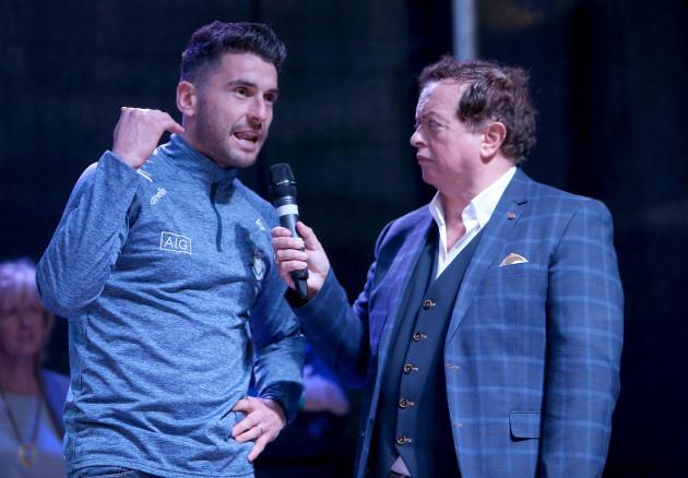 Bernard Brogan with Marty Morrissey
