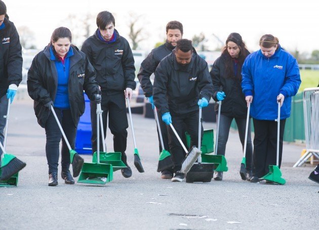 Ryans Cleaning team ready for the Papal Visit clean up challenge