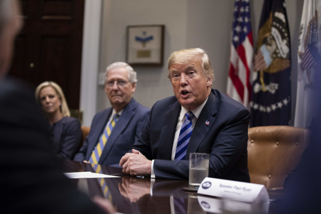 President Trump meets with Republican Congressional Leadership