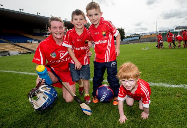Briege Corkery celebrates with her nephews