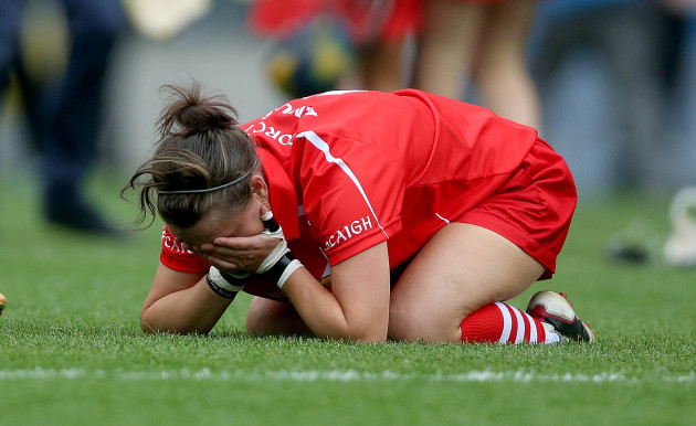 An emotional Aoife Murray at the final whistle