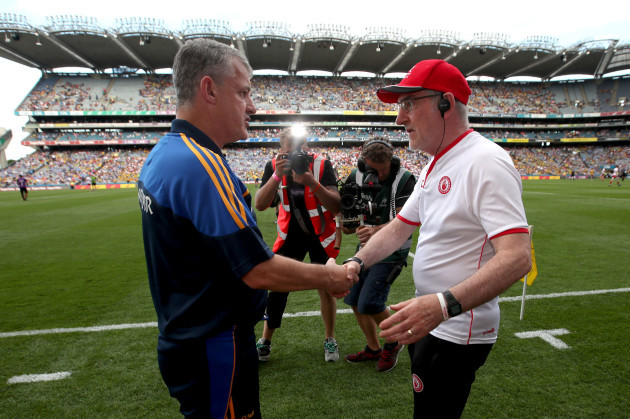 Kevin McStay and Mickey Harte
