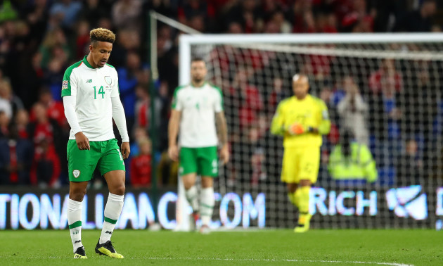 Callum Robinson dejected after his side conceded a goal