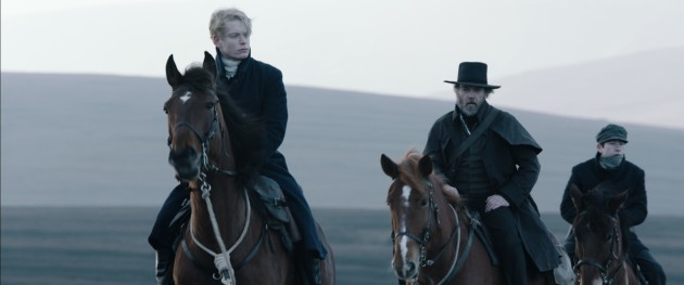 Freddie Fox, Hugo Weaving and Barry Keoghan in Black 47, Directed by Lance Daly