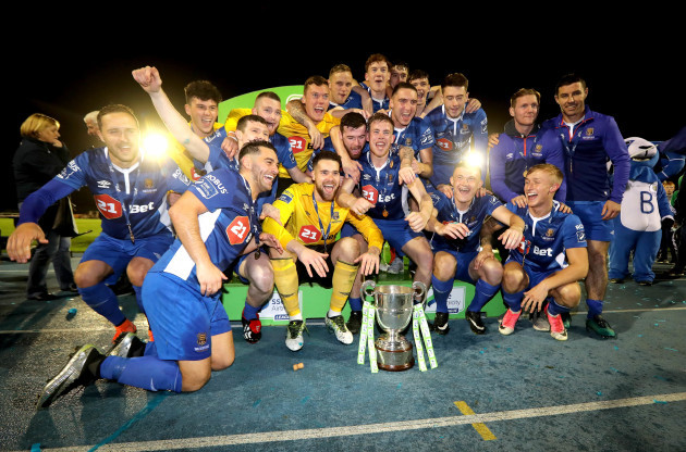 Waterford celebrate winning The SSE Airtricity League First Division