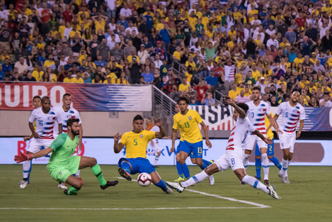 2018 Soccer - Brazil defeats United States 2 to 0