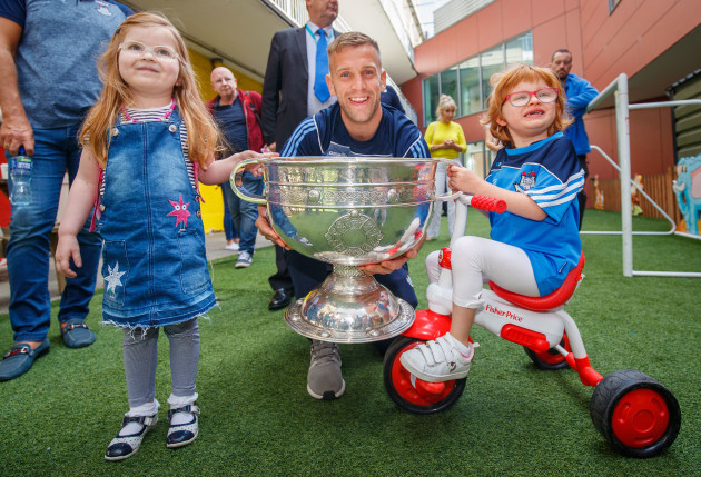 Jonny Cooper with Dawn Fahy and Zoe Lonergan