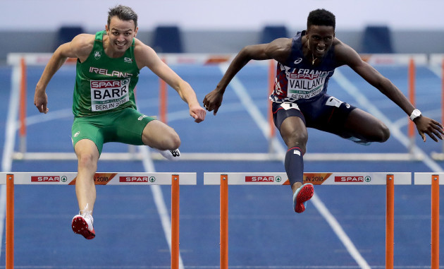 Thomas Barr on his way to finishing third