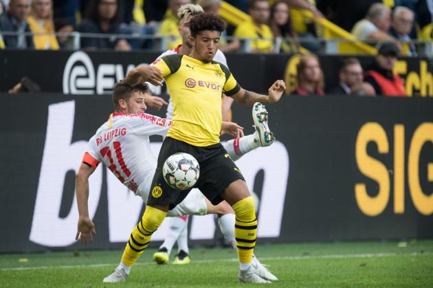 Soccer 1. Bundesliga / Borussia Dortmund - RB Leipzig 4: 1.