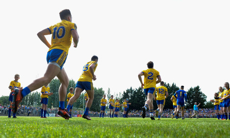 The Roscommon team run out