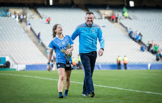 Mick Bohan and Noelle Healy celebrate