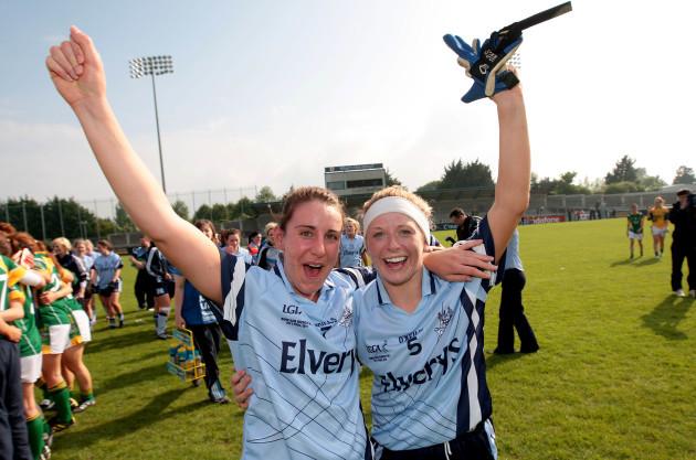 Siobhan McGrath and Gemma Fay celebrate