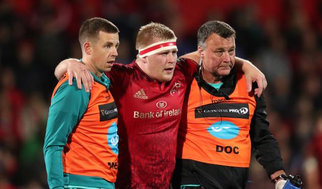 John Ryan goes off injured