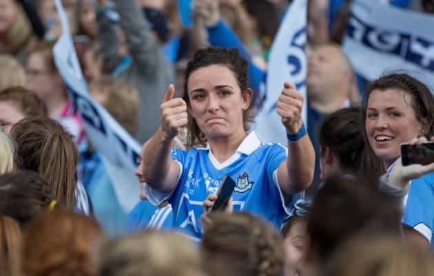Niamh McEvoy celebrates