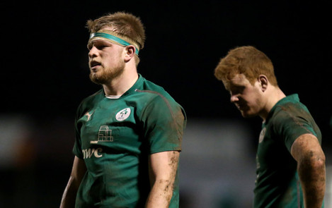 Joe Joyce and Peadar Timmins dejected