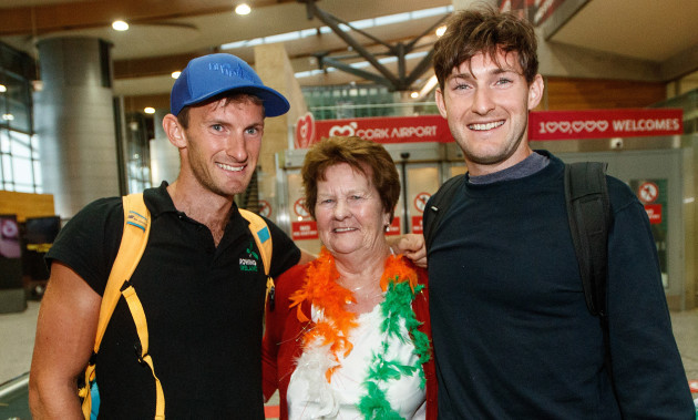 Gary and Paul O'Donovan with his grandmother Mary Doab