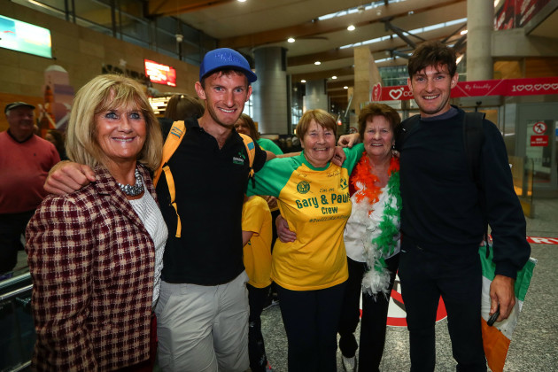Gary and Paul O'Donovan with their grandmother Mary Doab and their grandaunts Ina Lynch and Rosarie O'Leary