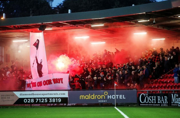 Bohemians fans ahead of the game