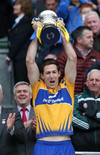 Gary Brennan lifts the cup