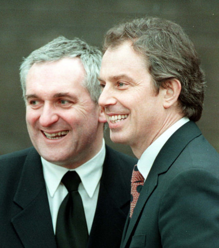 Ulster talks Ahern/Blair smile