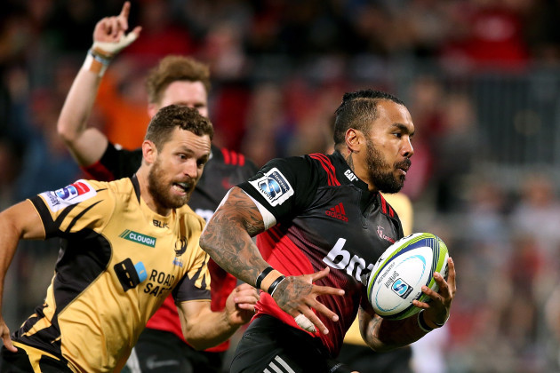 Digby Ioane on his way to scoring a try