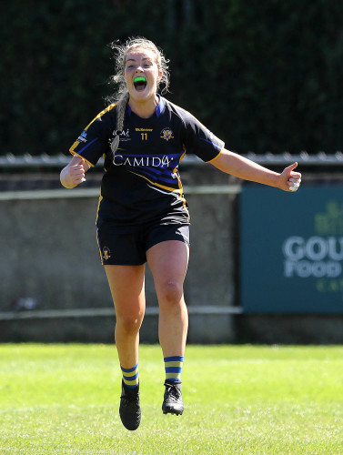 Aisling McCarthy celebrates at the final whistle