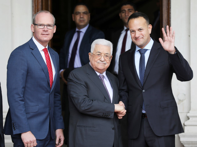 NO FEE DFA H.E. PRESIDENT MAHMOUD ABBAS VISIT TO IRELAND JB7