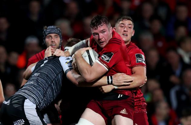 Munster's Peter O'Mahony and Dan Goggin