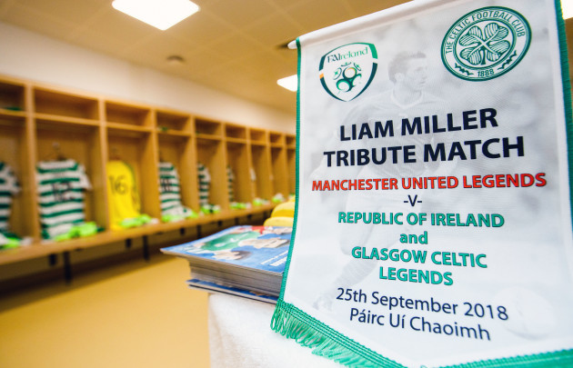 A view of Celtic  Ireland Legends changing room