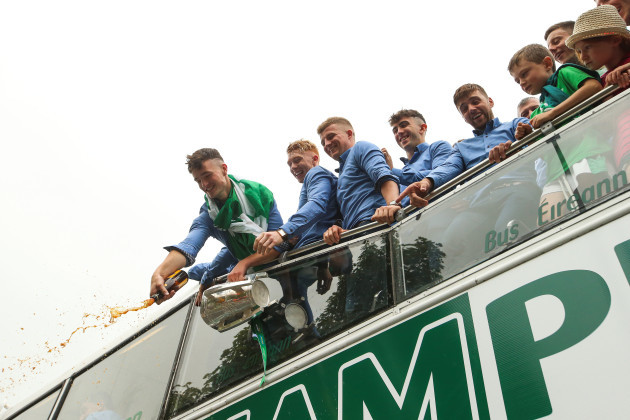 Kyle Hayes and members of the Limerick team