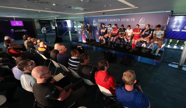 2018/2019 Heineken Champions Cup  European Rugby Challenge Cup Launch